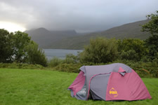 Camping près de Killary Harbour