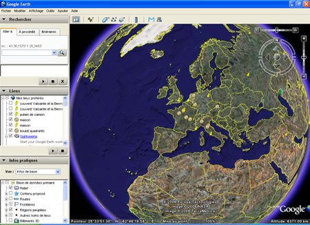 La terre vue par Google Earth