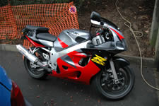 Suzuki GSX-R 600 SRAD version route